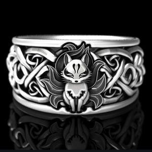 NWT Adorable Kitsune Fox Silver Ring 5!